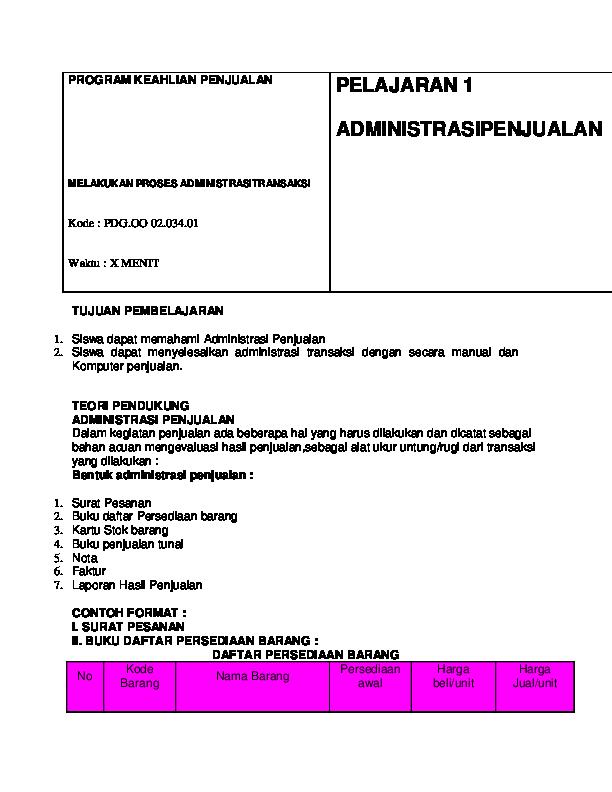 Doc Administrasi Transaksi Indra Kurniawan Academiaedu