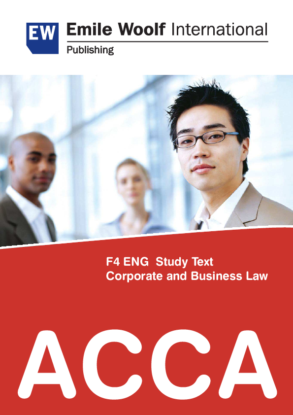 PDF) ACCA F4 ENG Study Text Corporate and Business Law