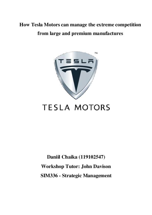 DOC) tesla motor's startegic analysis | Daniil Seagul