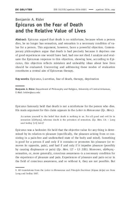 Argumentative essay on fear