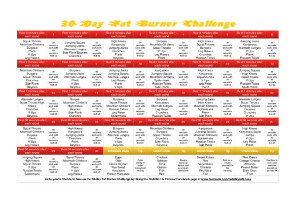 fat burner challenge)