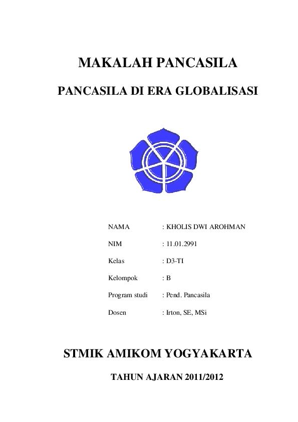 Pdf Makalah Pancasila Pancasila Di Era Globalisasi Stmik Amikom Yogyakarta Daun Hijau Academia Edu
