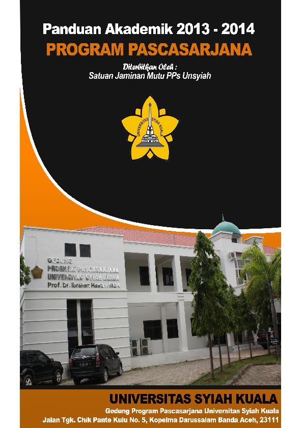 Pdf Panduan Akademik 2013 2014 Program Pascasarjana Universitas Syiah Kuala Nyak Nanta Academia Edu