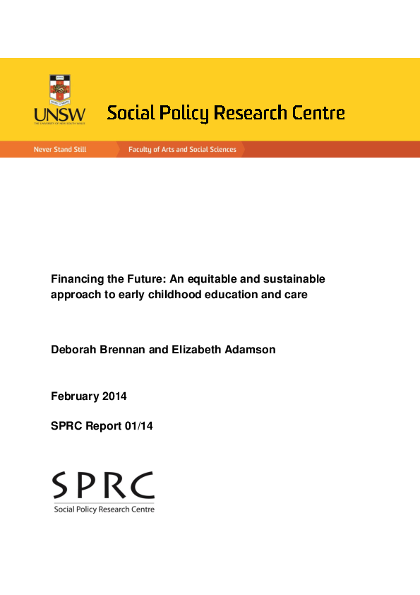 PDF) Financing the Future: An equitable and sustainable approach to