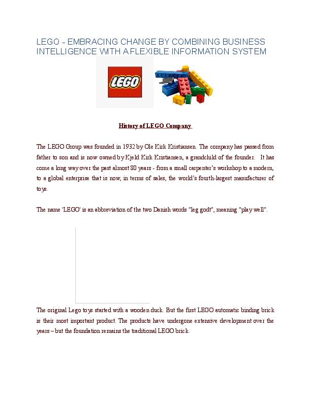 lego company information