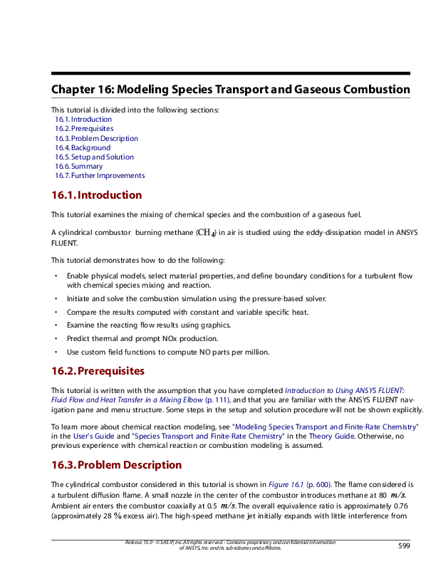 PDF) Chapter 16: Modeling Species Transport and Gaseous