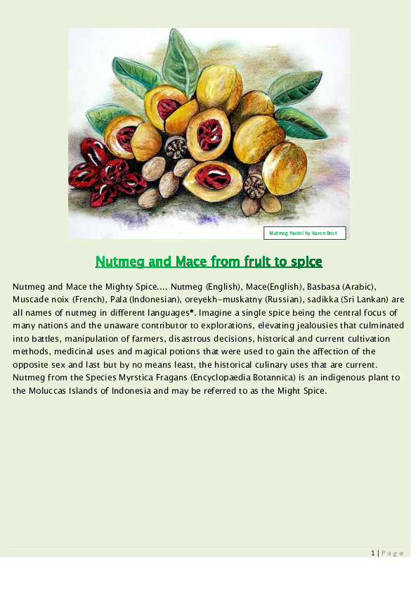 DOC) Nutmeg and Mace from Fruit to Spice | Anna Peters