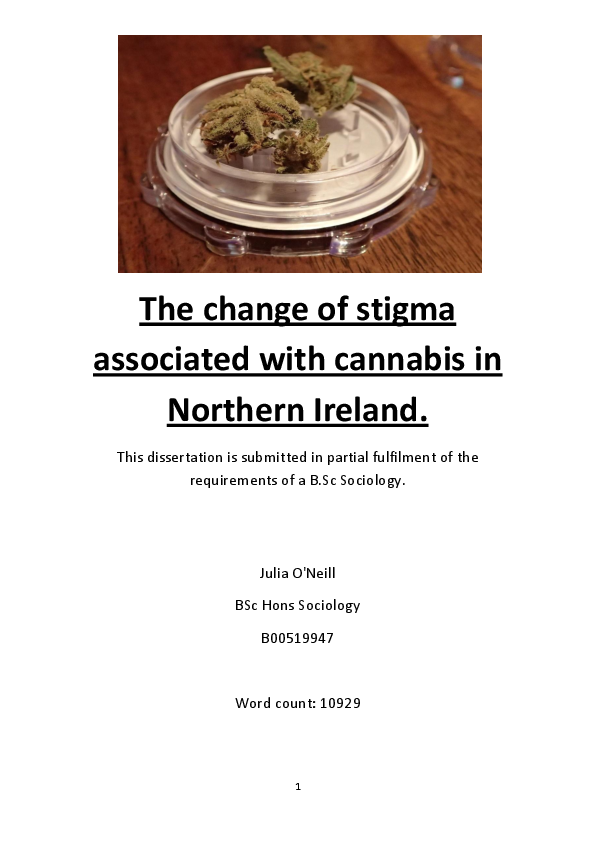 légalisation cannabis dissertation