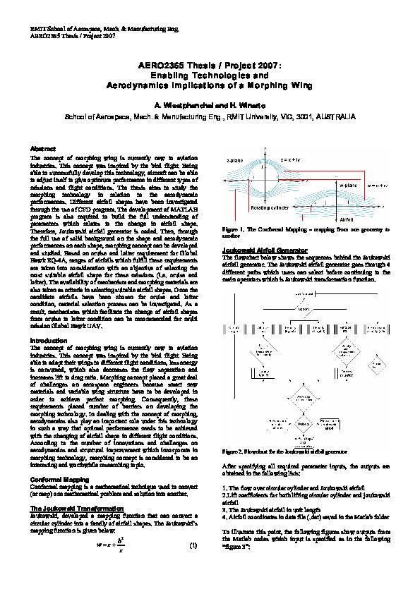PDF) Enabling Technologies and Aerodynamics Implications of