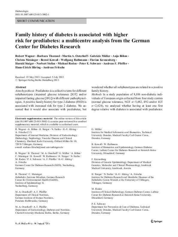 diabetes de Peter Schwarz Dresden