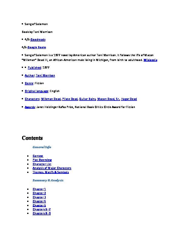 (DOC) Study Tools · Important Quotations Explained · Key
