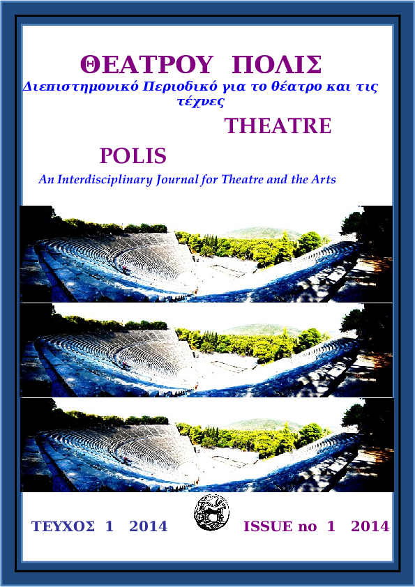 f912c97588 DOC) THEATRE POLIS  An Interdisciplinary Journal of Theatre and the ...