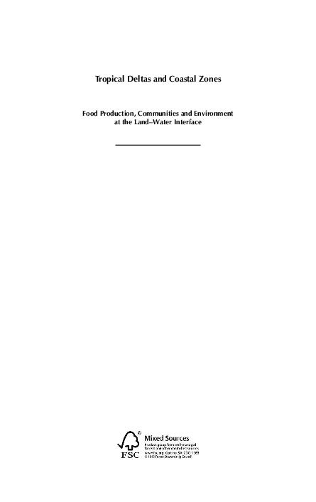 c7eb6cedffae PDF) Tropical deltas and coastal zones: food production, communities ...