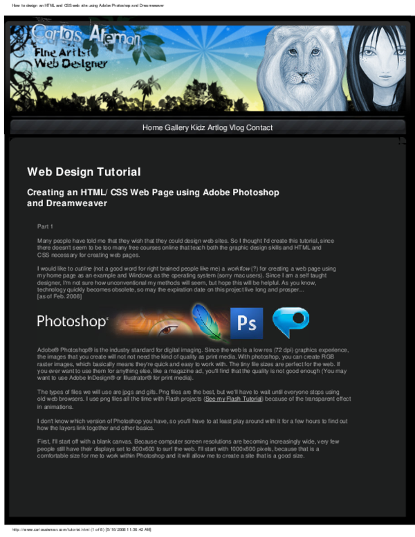 Pdf Web Design Tutorial Diogo Lima Academia Edu