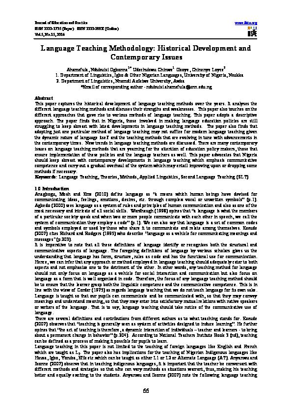 PDF) IISTE international journals, 2014 edition Vol 8   Alexander