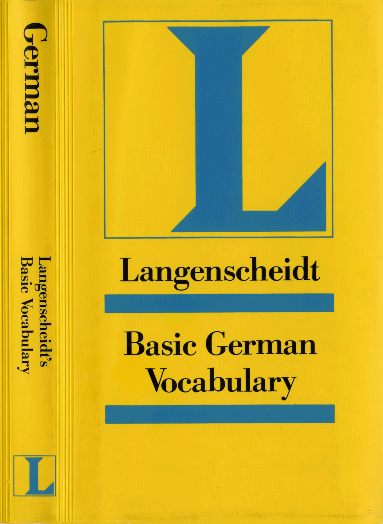 best website 76a79 705c2 PDF) Langenscheidt Basic German Vocabulary   nikola stephan ...