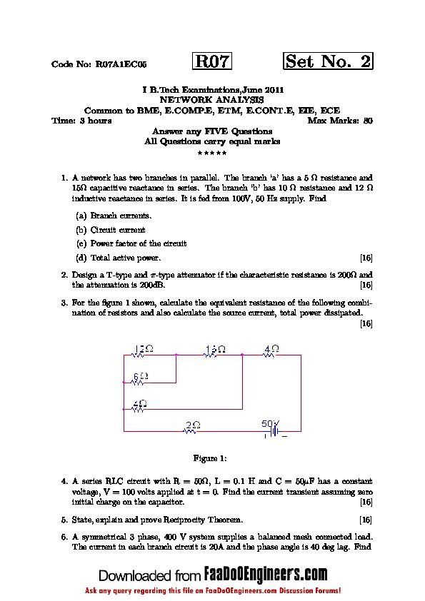 PDF) Code No: R07A1EC05 | Amit Ganguly - Academia edu