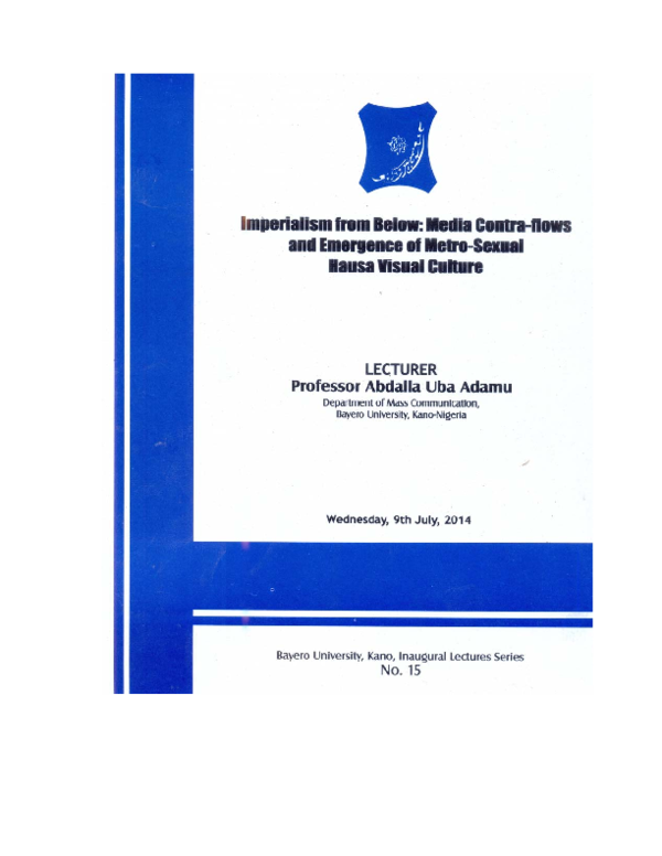 PDF) Imperialism from Below: Media Contra-flows and the Emergence of