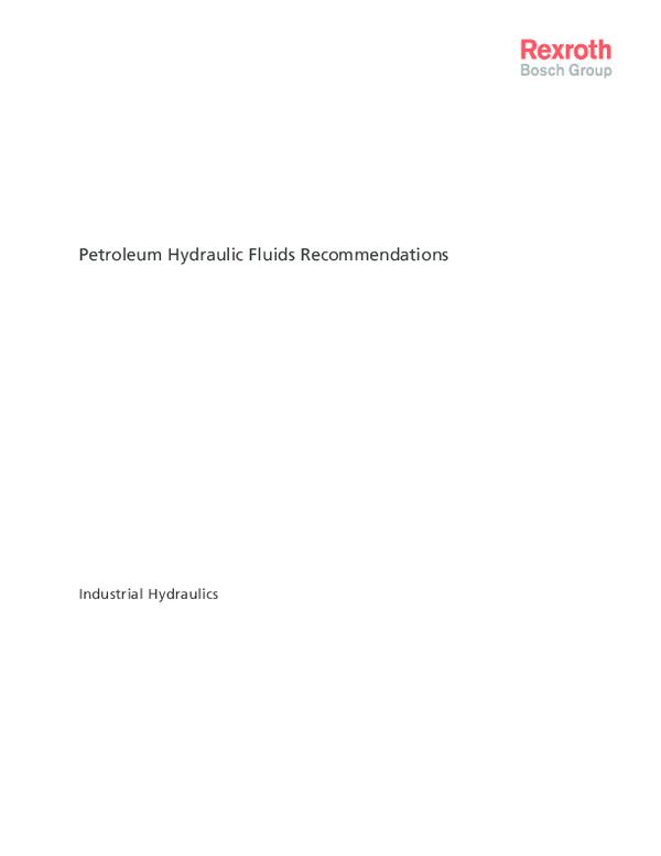 PDF) Petroleum Hydraulic Fluids Recommendations Industrial