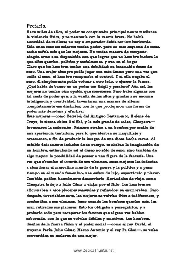 Pdf Arte De La Seduccion Robert Greene Ivan Gomez Trejo Academia Edu