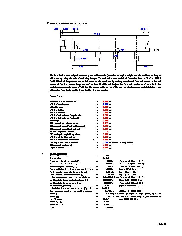 PDF) 3 ANALYSIS AND DESIGN OF DECK SLAB | satya narayana