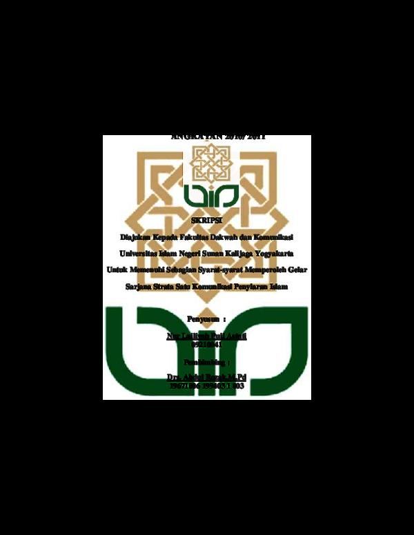 Pdf Hubungan Menonton Program Tayangan Religi Asep Nurdiansyah