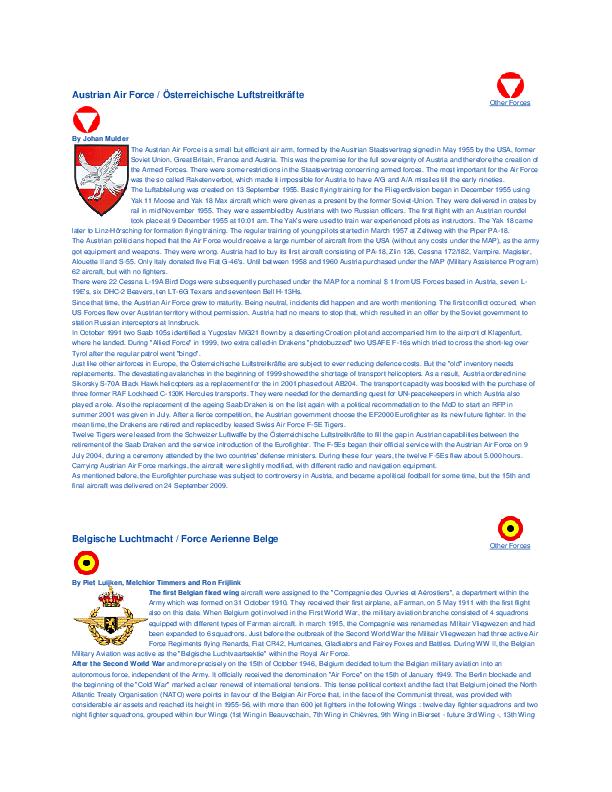 PDF) Austrian Air Force / Österreichische Luftstreitkräfte Other