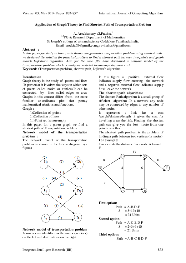 project paper on graph theory