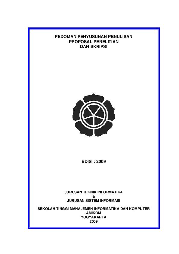 Cover Skripsi Amikom Ide Judul Skripsi Universitas
