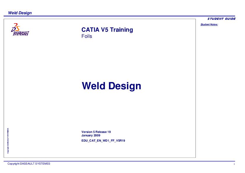 PDF) Weld Design CATIA V5 | Gonzalo Anzaldo Muñoz - Academia edu