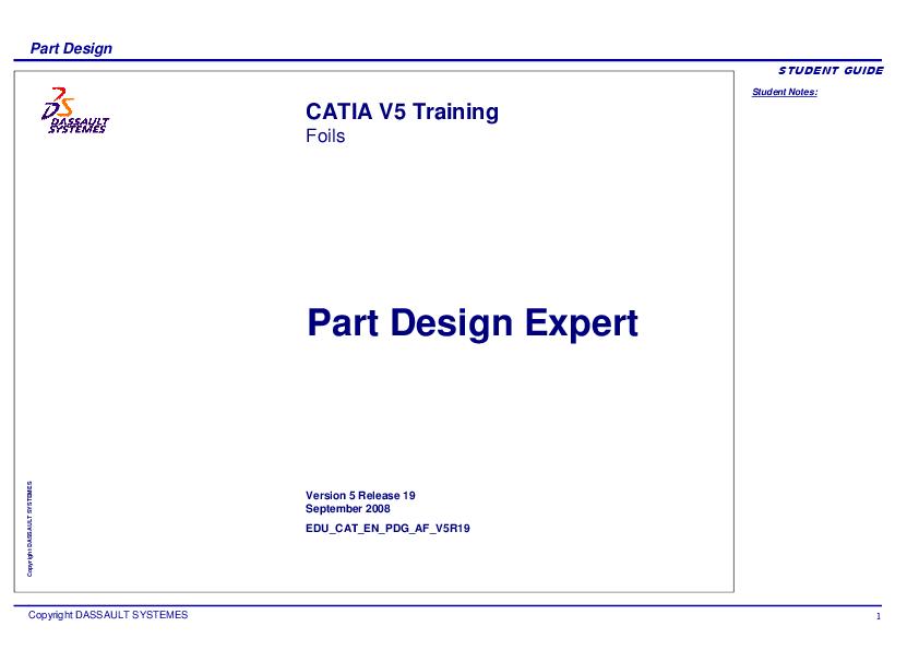 PDF) Part Design EXPERT CATIA V5 | Gonzalo Anzaldo Muñoz - Academia edu