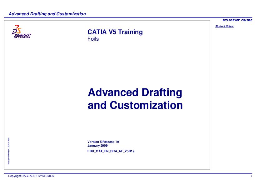 PDF) Advanced Drafting and Customization CATIA V5   Gonzalo Anzaldo