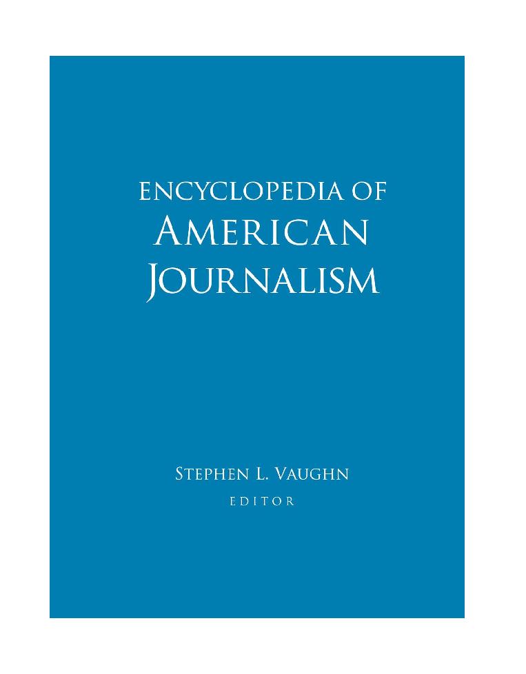 46e63f324b25 PDF) Enyclopedia of American Journalism | Alessandra Savu - Academia.edu