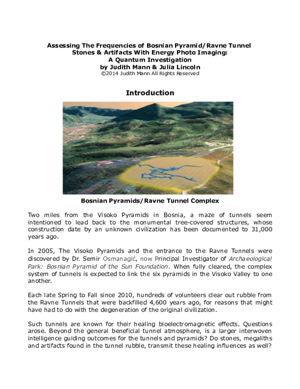 Assessing The Frequencies of Bosnian Pyramid/Ravne Tunnel