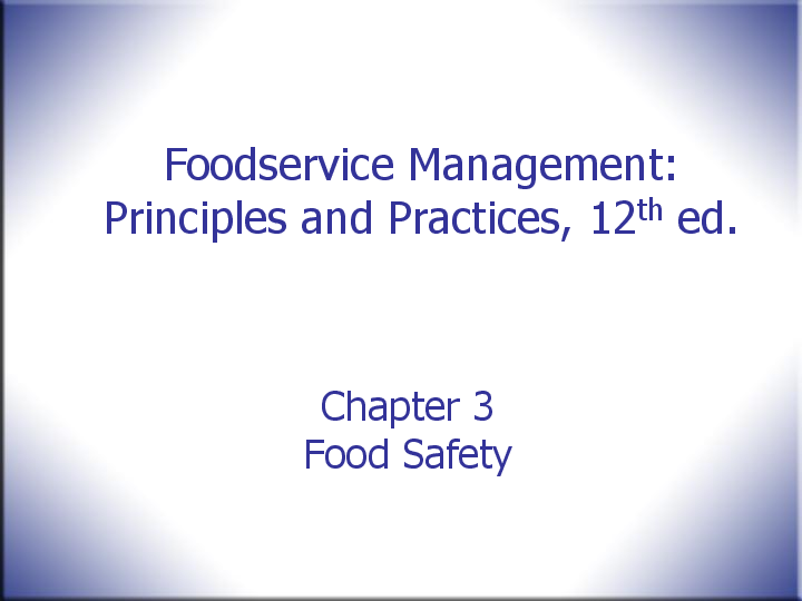 PPT) Chapter 3 Food Safety | Shamilah Shamsuddin Ali