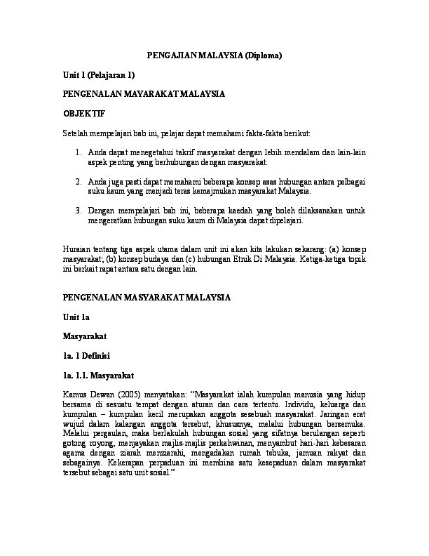Doc Pengajian Malaysia Diploma Calyn Chua Academia Edu
