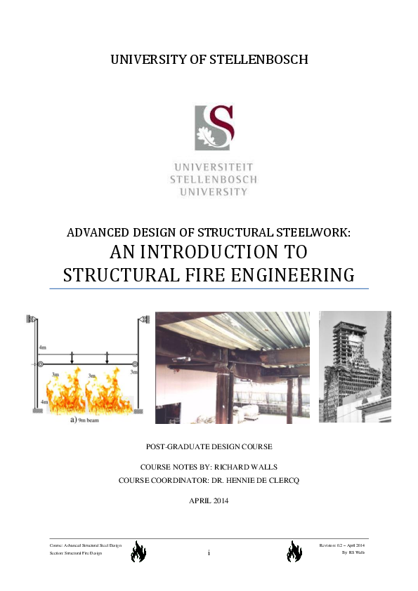 PDF) An Introduction to Structural Fire Engineering - Course