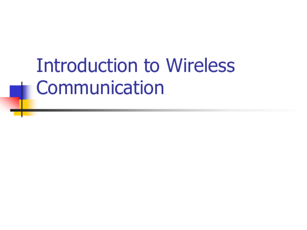 PPT) Introduction to Wireless Communication Radio