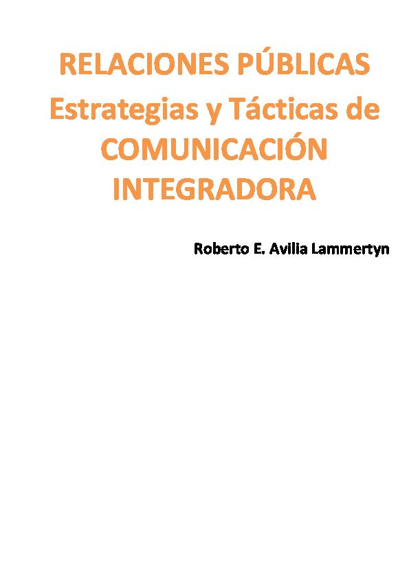 best service b4b91 0048d PDF) RELACIONES PÚBLICAS Estrategias y Tácticas de COMUNICACIÓN ...