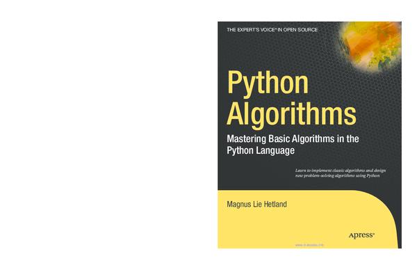 PDF) Python Algorithms: Mastering Basic Algorithms in the