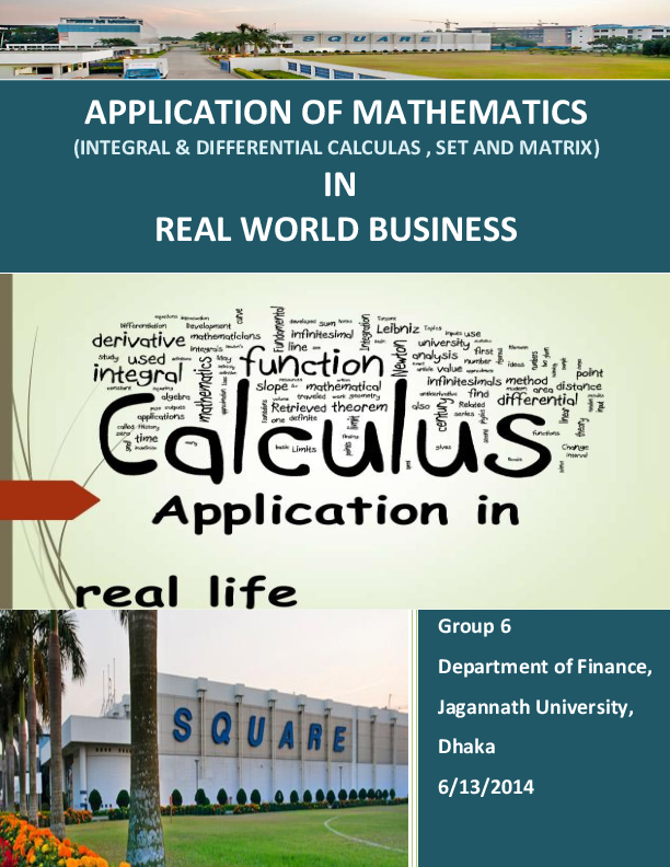 Application of Mathematics in Real Life Business | Md  Shakhawat
