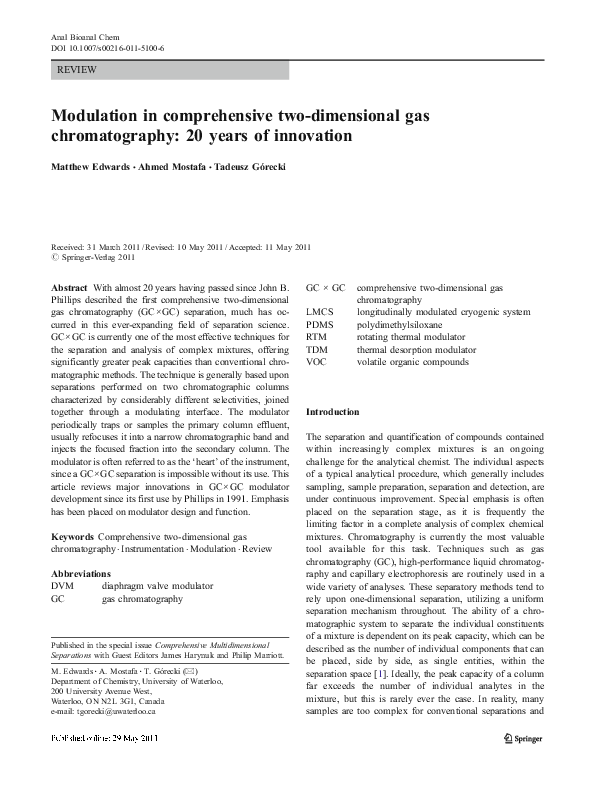 PDF) Modulation in comprehensive two-dimensional gas