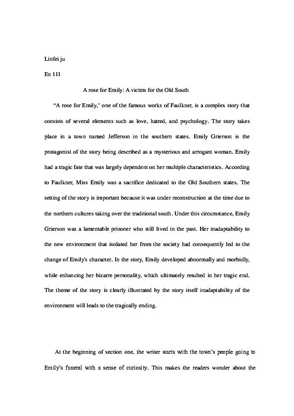 rose emily term papers