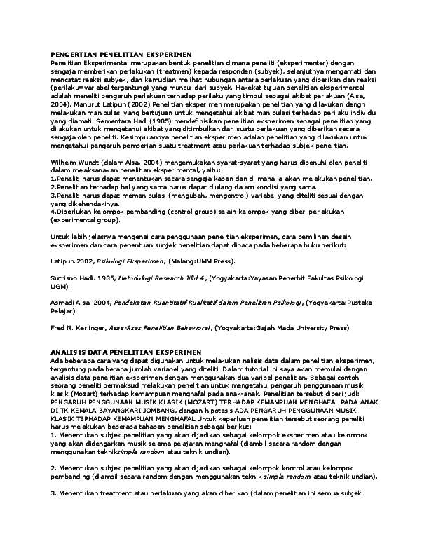 Doc Contoh Analisis Eksperimen Hendra Wijayanto Academia Edu