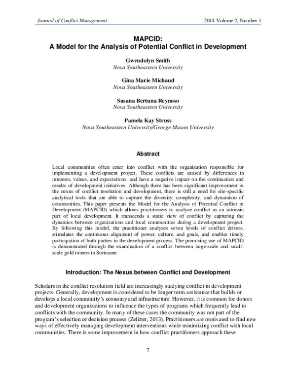 women in development an interpretive essay conflict management studies in contemporary international