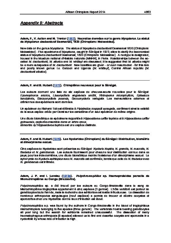 Pdf Acr 2014 Appendix 8 Victor Van Cakenberghe Academiaedu