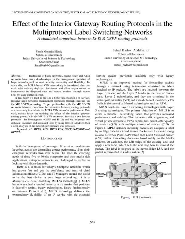 Networks pdf mpls qos for ip