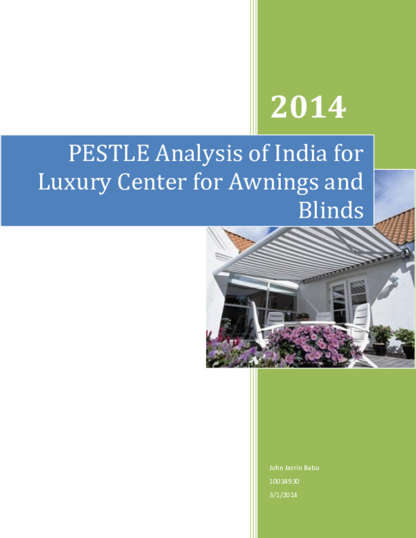 DOC) PESTLE Analysis of India for Luxury Center for Awnings and