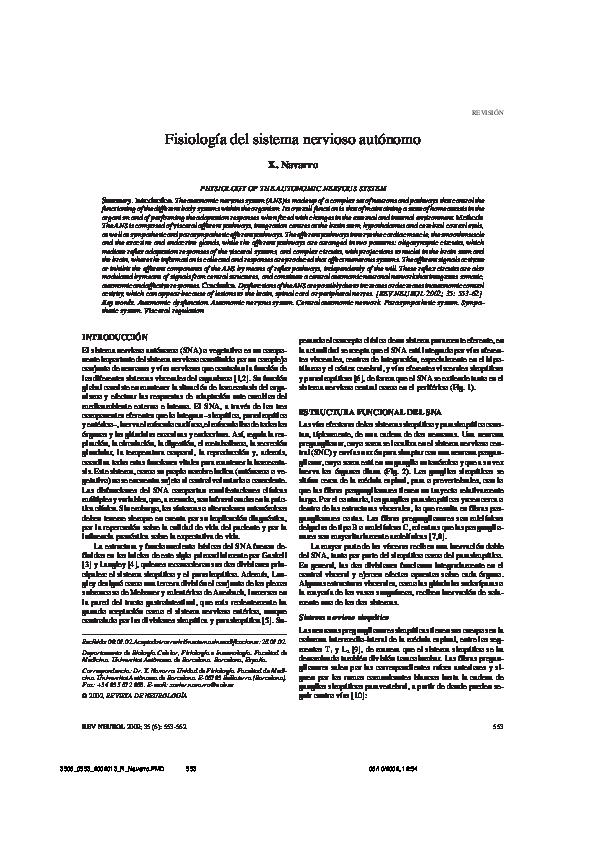 Efectos parasimpáticos y simpáticos en los órganos por hipertensión