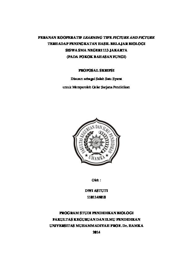 Judul Skripsi Pendidikan Biologi 2018 Ide Judul Skripsi Universitas